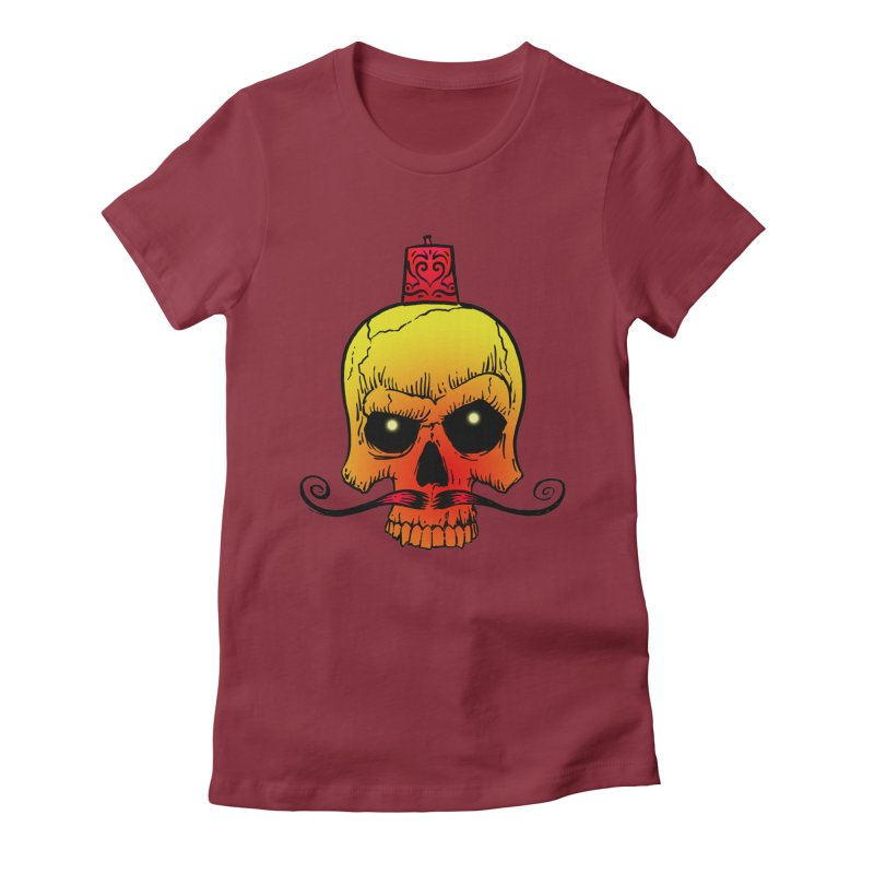 crazyskull No.5 Women's Fitted T-Shirt by crazy3dman's Artist Shop