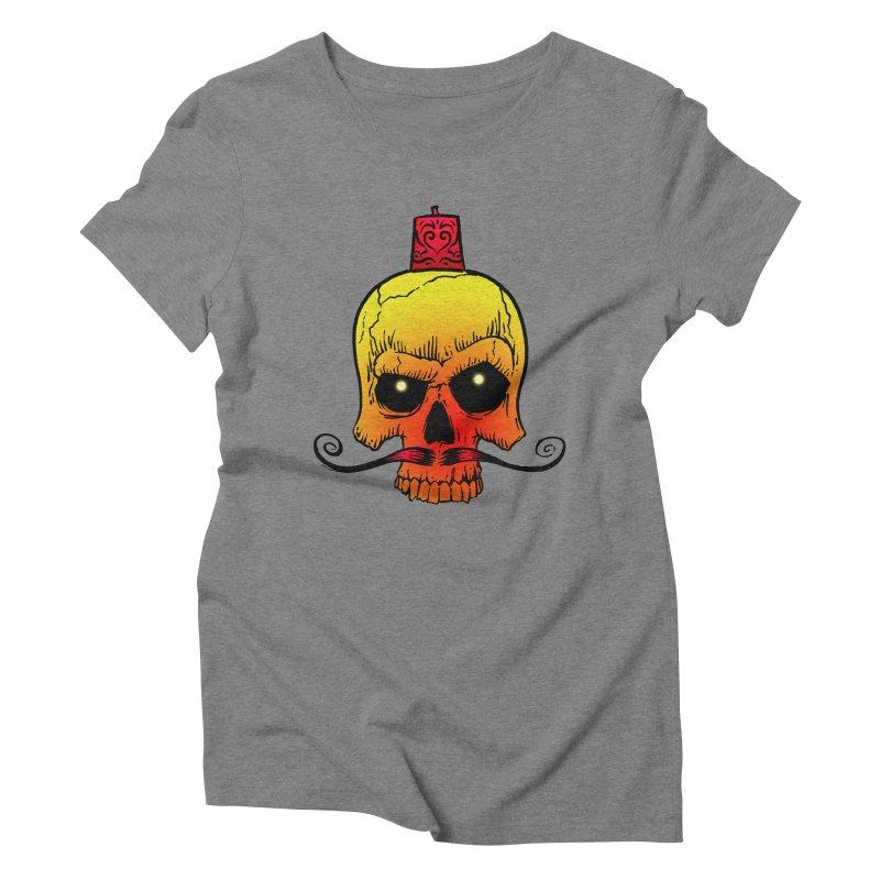 crazyskull No.5 Women's Triblend T-shirt by crazy3dman's Artist Shop