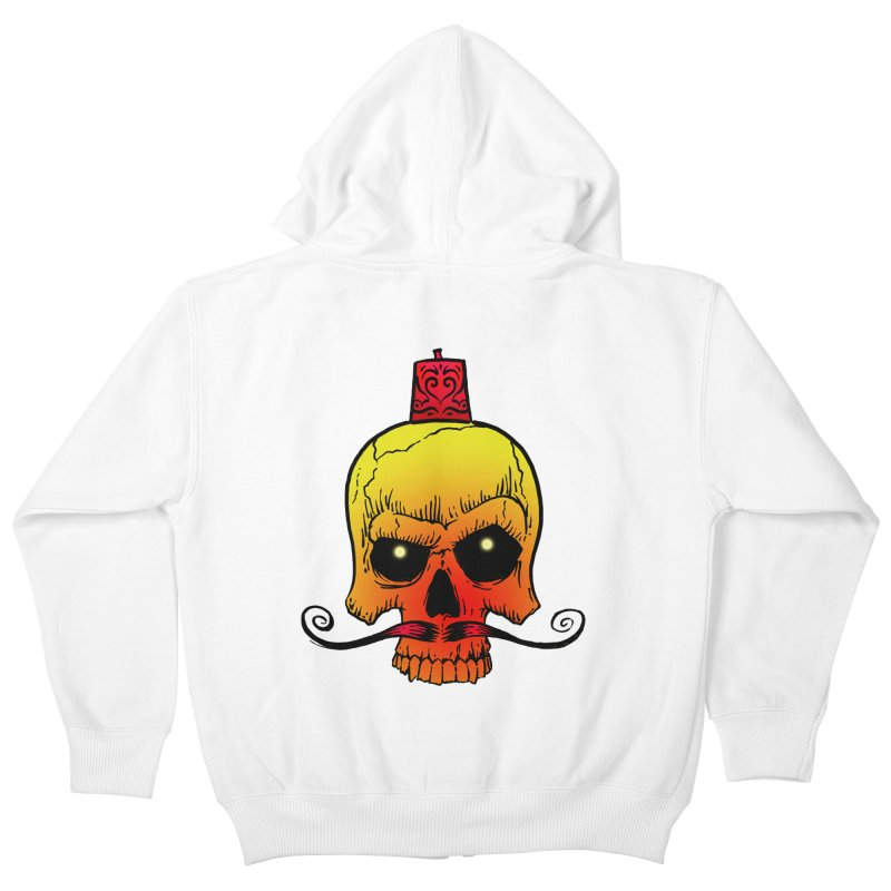 crazyskull No.5 Kids Zip-Up Hoody by crazy3dman's Artist Shop