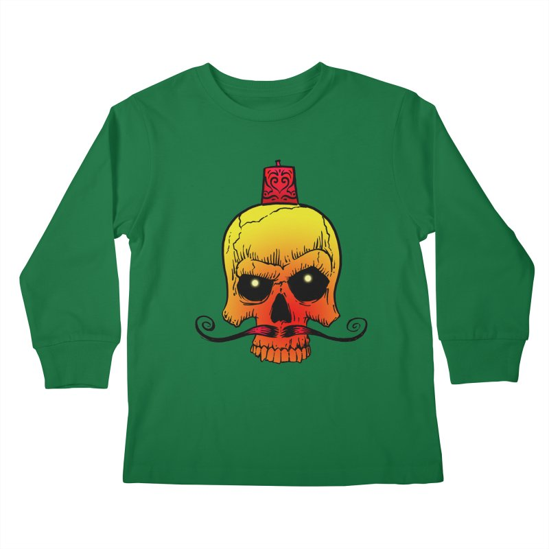 crazyskull No.5 Kids Longsleeve T-Shirt by crazy3dman's Artist Shop