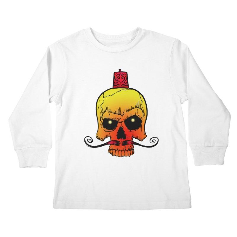 crazyskull No.5 Kids Longsleeve T-Shirt by crazy3dman's Artist Shop