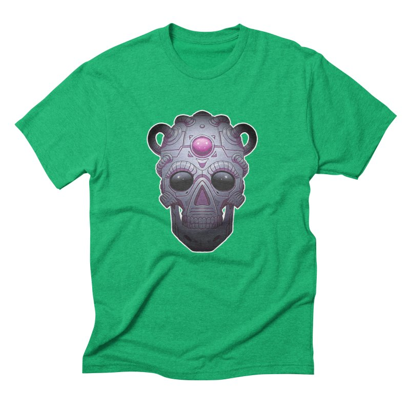 crazyskull No.6 Men's Triblend T-Shirt by crazy3dman's Artist Shop