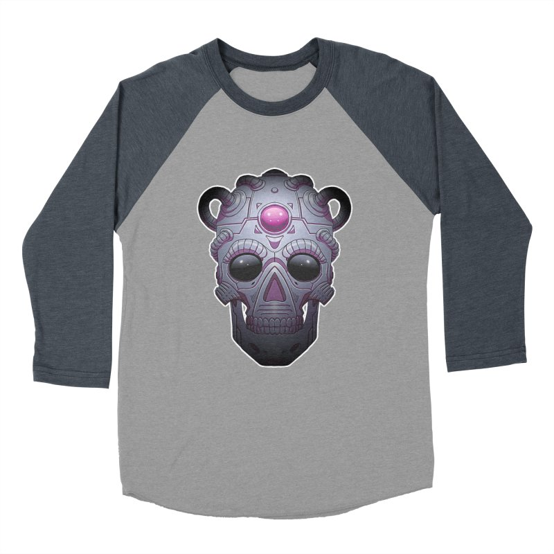 crazyskull No.6 Men's Baseball Triblend T-Shirt by crazy3dman's Artist Shop