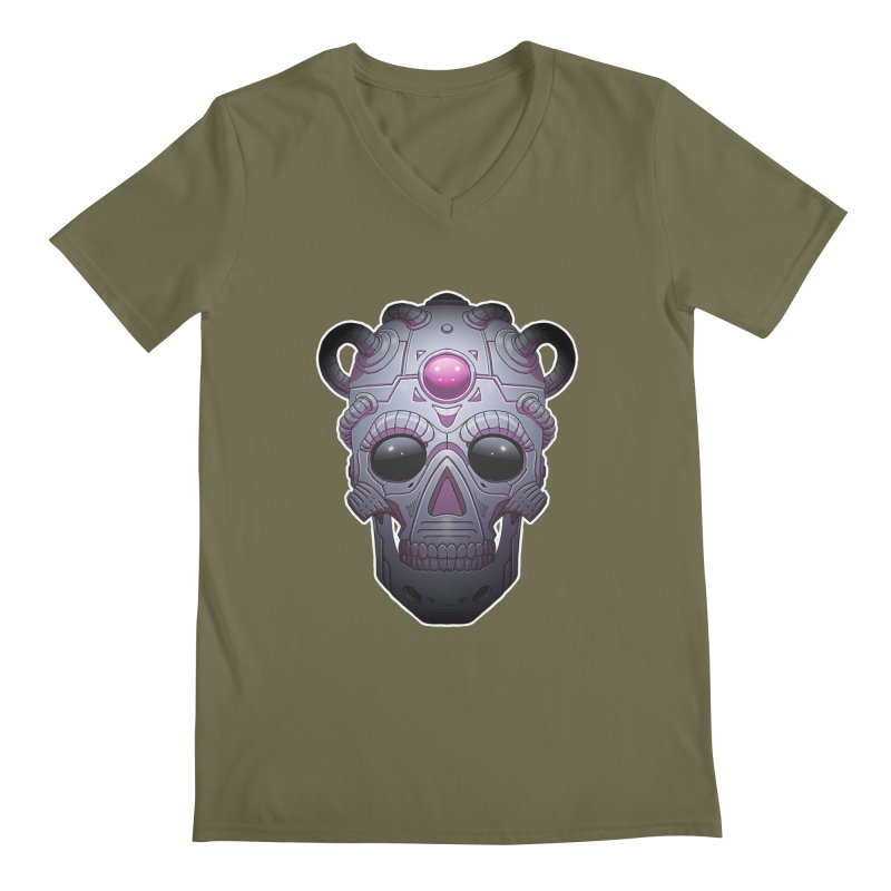 crazyskull No.6 Men's V-Neck by crazy3dman's Artist Shop