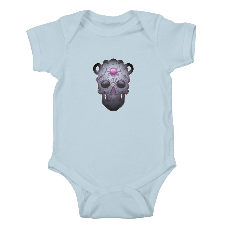 crazyskull No.6 Kids Baby Bodysuit by crazy3dman's Artist Shop