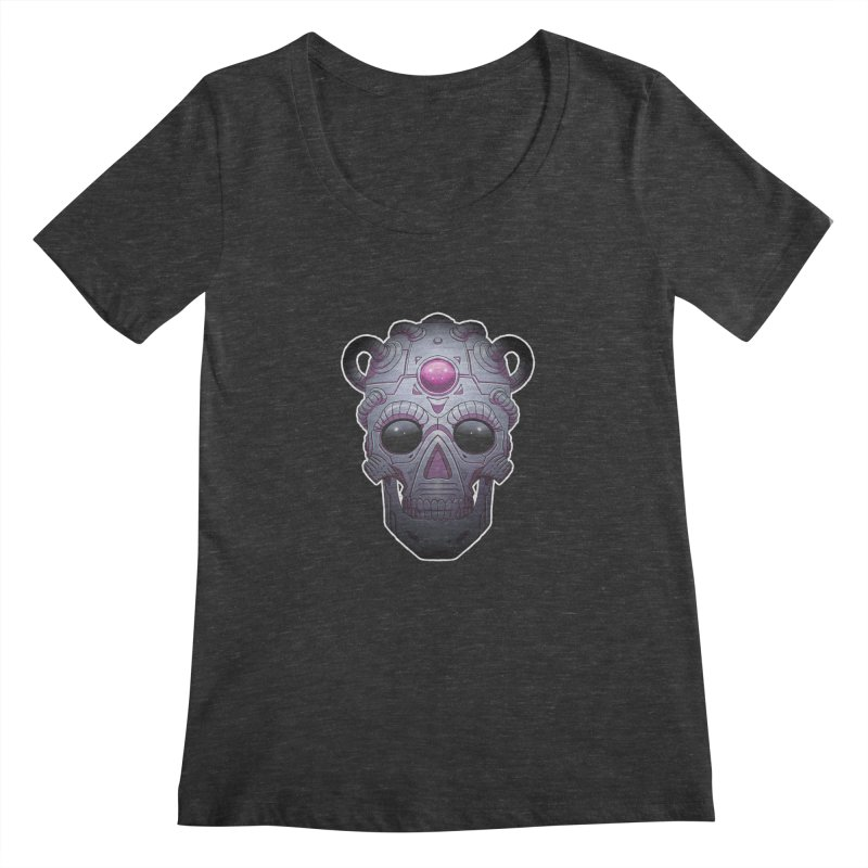 crazyskull No.6 Women's Scoopneck by crazy3dman's Artist Shop