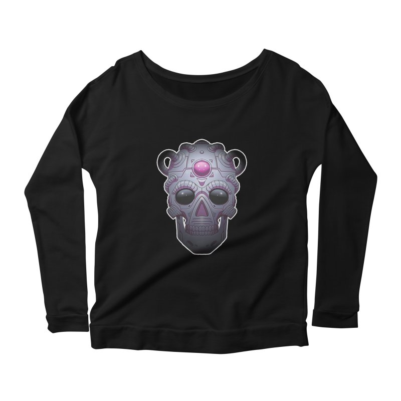 crazyskull No.6 Women's Longsleeve Scoopneck  by crazy3dman's Artist Shop