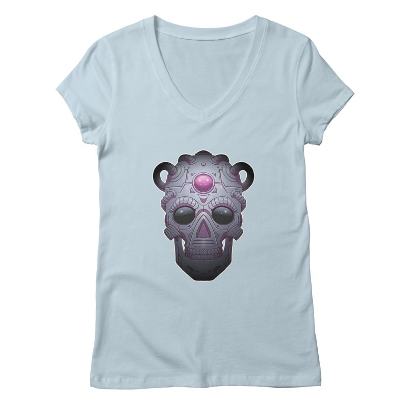 crazyskull No.6 Women's V-Neck by crazy3dman's Artist Shop