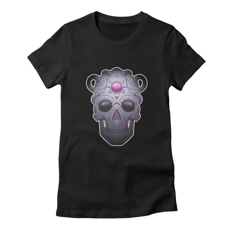 crazyskull No.6 Women's Fitted T-Shirt by crazy3dman's Artist Shop