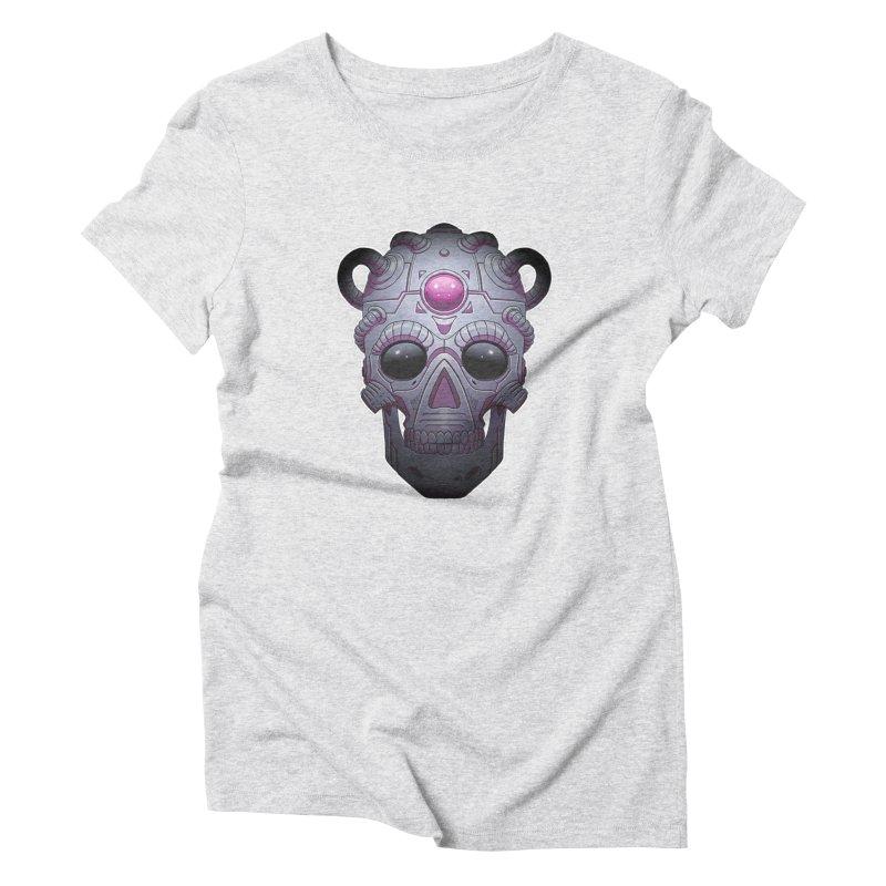 crazyskull No.6 Women's Triblend T-Shirt by crazy3dman's Artist Shop