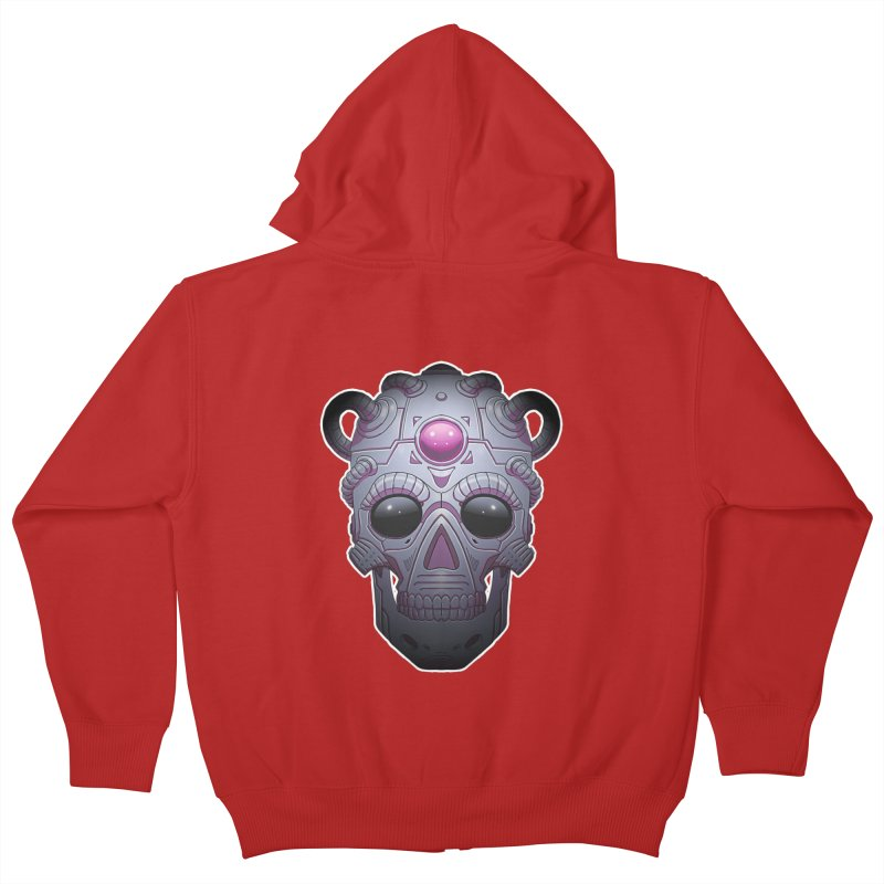 crazyskull No.6 Kids Zip-Up Hoody by crazy3dman's Artist Shop