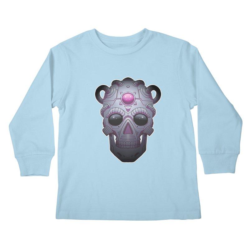 crazyskull No.6 Kids Longsleeve T-Shirt by crazy3dman's Artist Shop