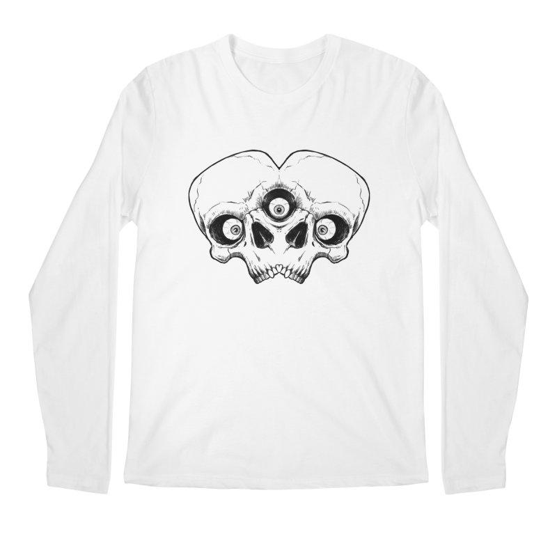 crazyskull No.7 Men's Longsleeve T-Shirt by crazy3dman's Artist Shop
