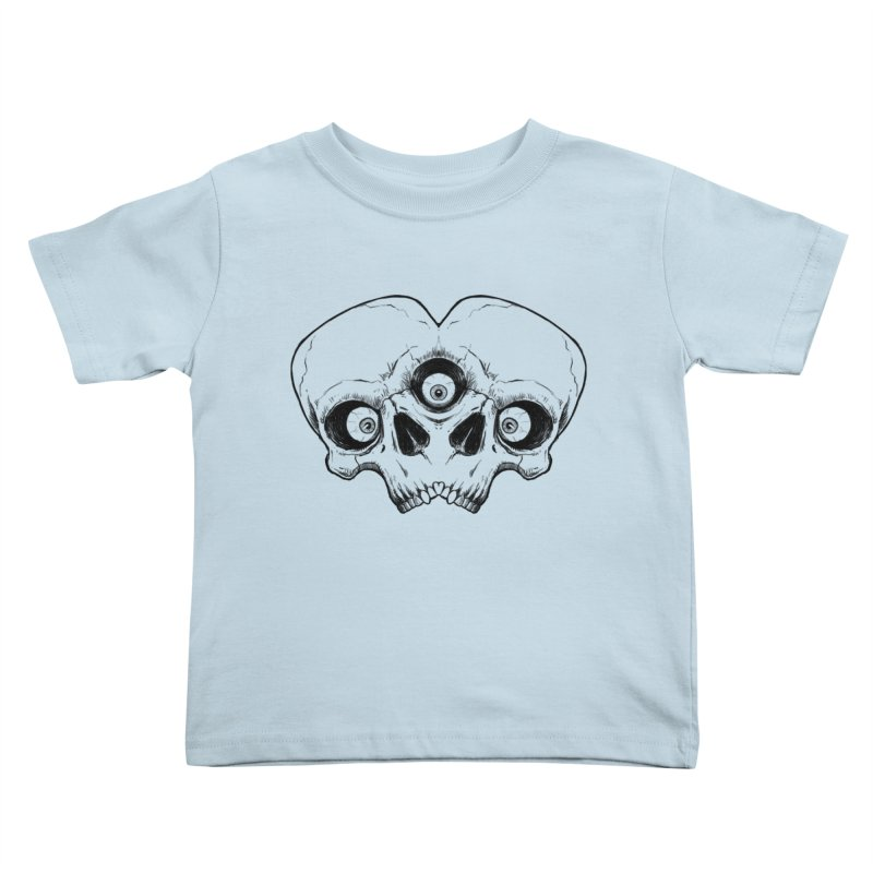 crazyskull No.7 Kids Toddler T-Shirt by crazy3dman's Artist Shop