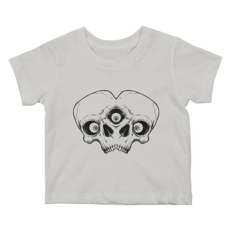 crazyskull No.7 Kids Baby T-Shirt by crazy3dman's Artist Shop