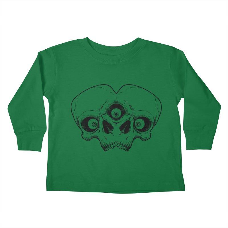 crazyskull No.7 Kids Toddler Longsleeve T-Shirt by crazy3dman's Artist Shop