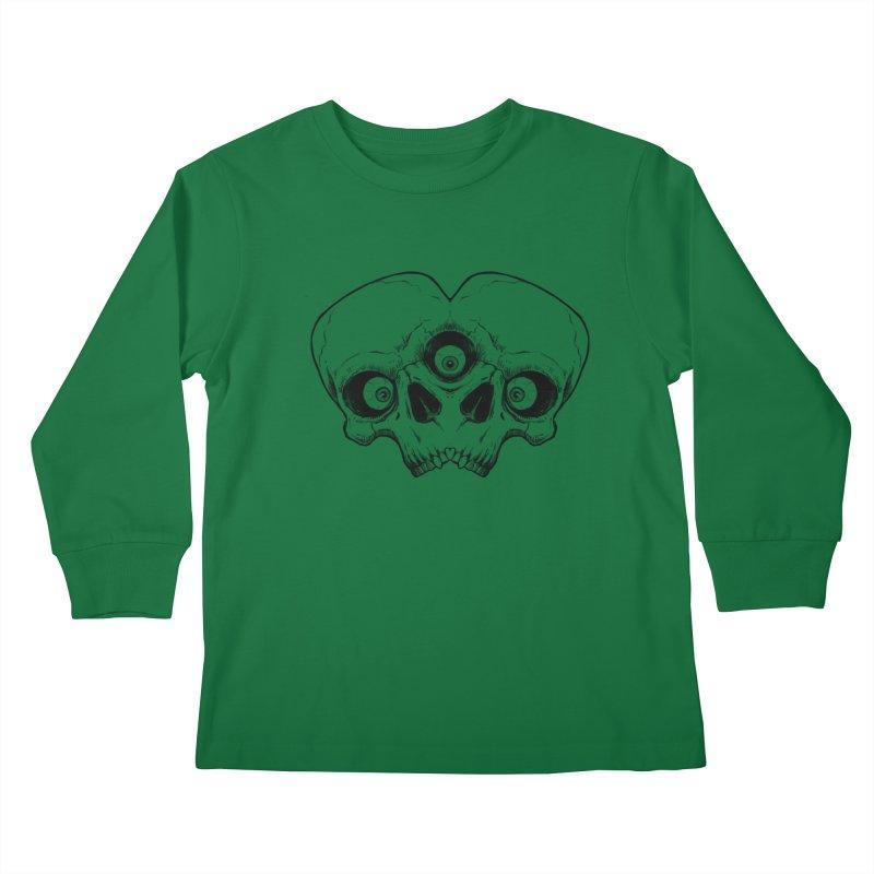 crazyskull No.7 Kids Longsleeve T-Shirt by crazy3dman's Artist Shop