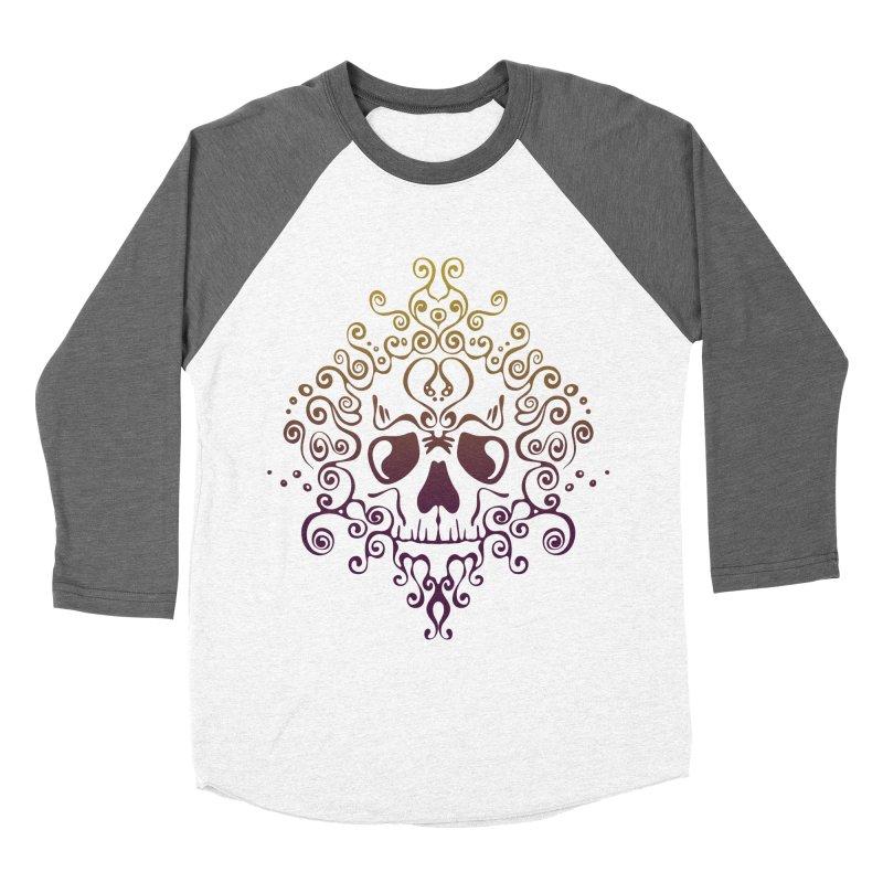 crazyskull No.8 Women's Baseball Triblend T-Shirt by crazy3dman's Artist Shop