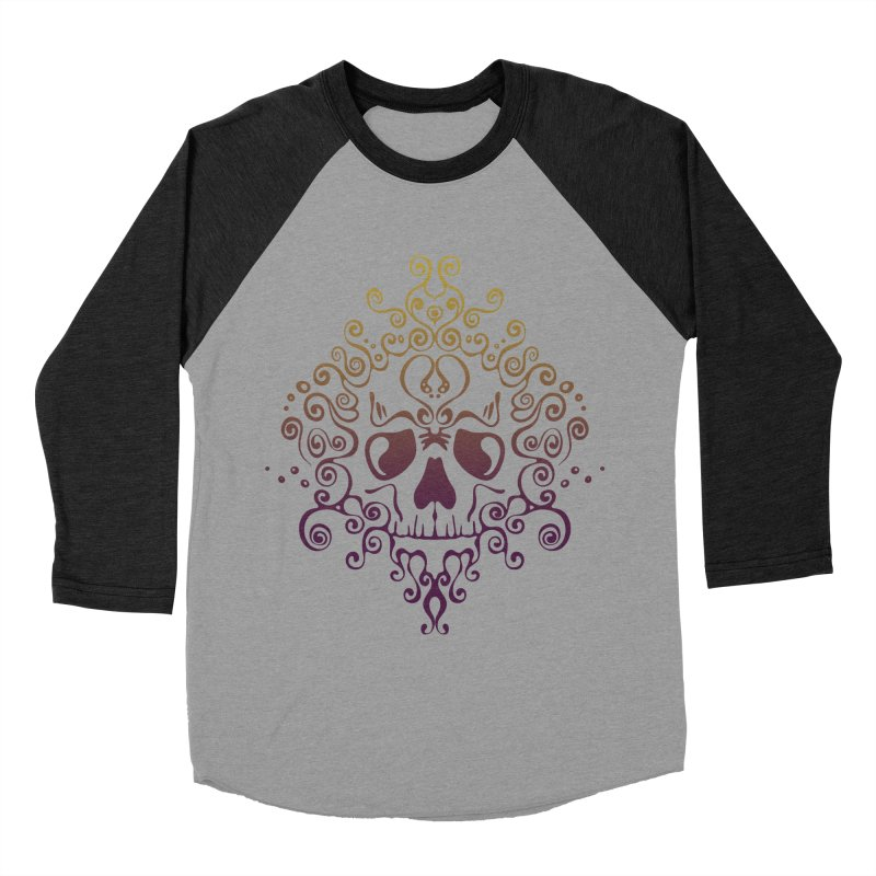 crazyskull No.8 Men's Baseball Triblend T-Shirt by crazy3dman's Artist Shop