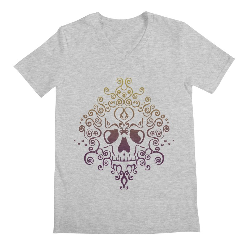 crazyskull No.8 Men's V-Neck by crazy3dman's Artist Shop