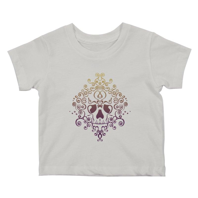 crazyskull No.8 Kids Baby T-Shirt by crazy3dman's Artist Shop