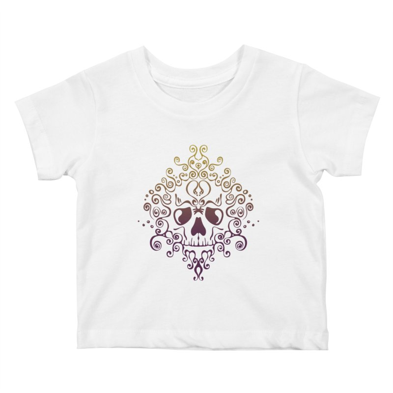 crazyskull No.8 Kids Baby T-Shirt by crazy3dman's Artist Shop