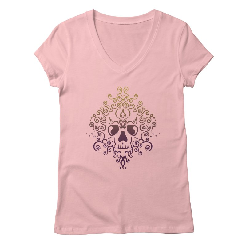crazyskull No.8 Women's V-Neck by crazy3dman's Artist Shop