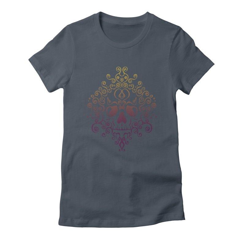 crazyskull No.8 Women's Fitted T-Shirt by crazy3dman's Artist Shop