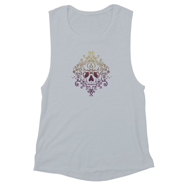crazyskull No.8 Women's Muscle Tank by crazy3dman's Artist Shop