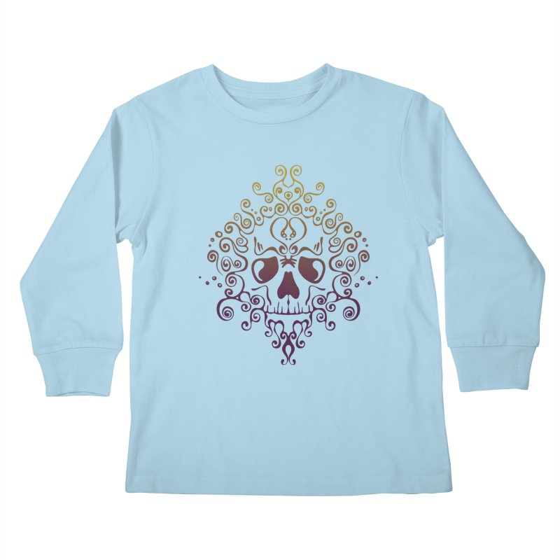 crazyskull No.8 Kids Longsleeve T-Shirt by crazy3dman's Artist Shop