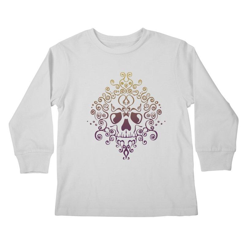 crazyskull No.8 Kids Longsleeve T-Shirt by crazy3dman's Artist Shop