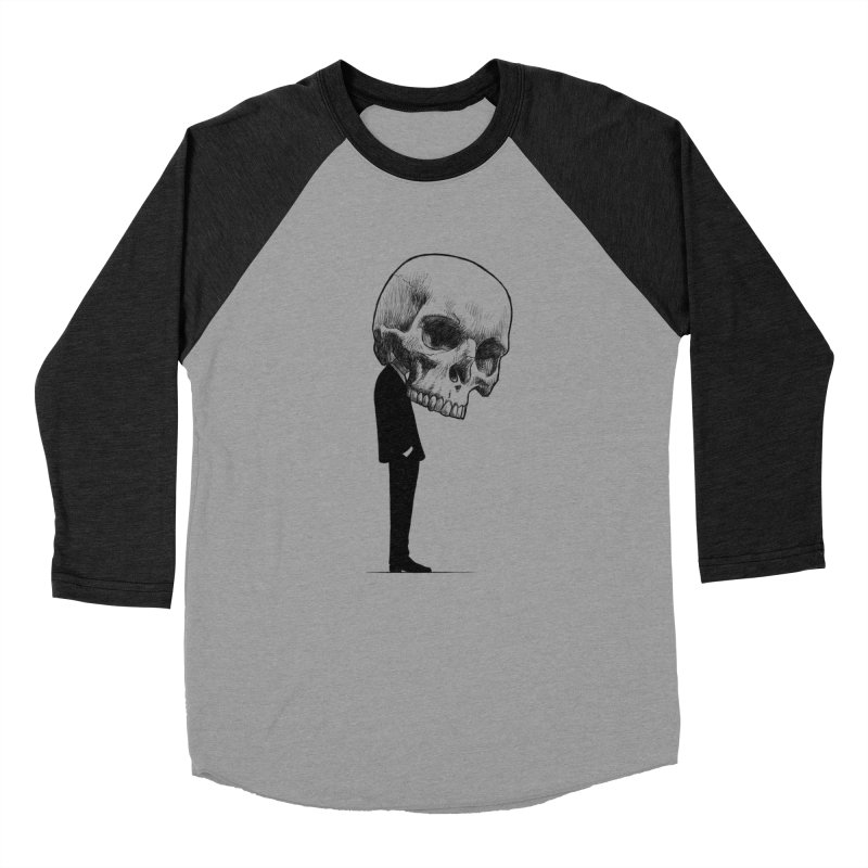 crazyskull No.9 Men's Baseball Triblend T-Shirt by crazy3dman's Artist Shop