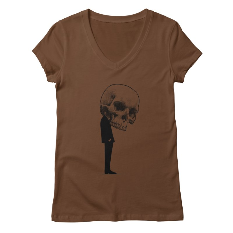 crazyskull No.9 Women's V-Neck by crazy3dman's Artist Shop