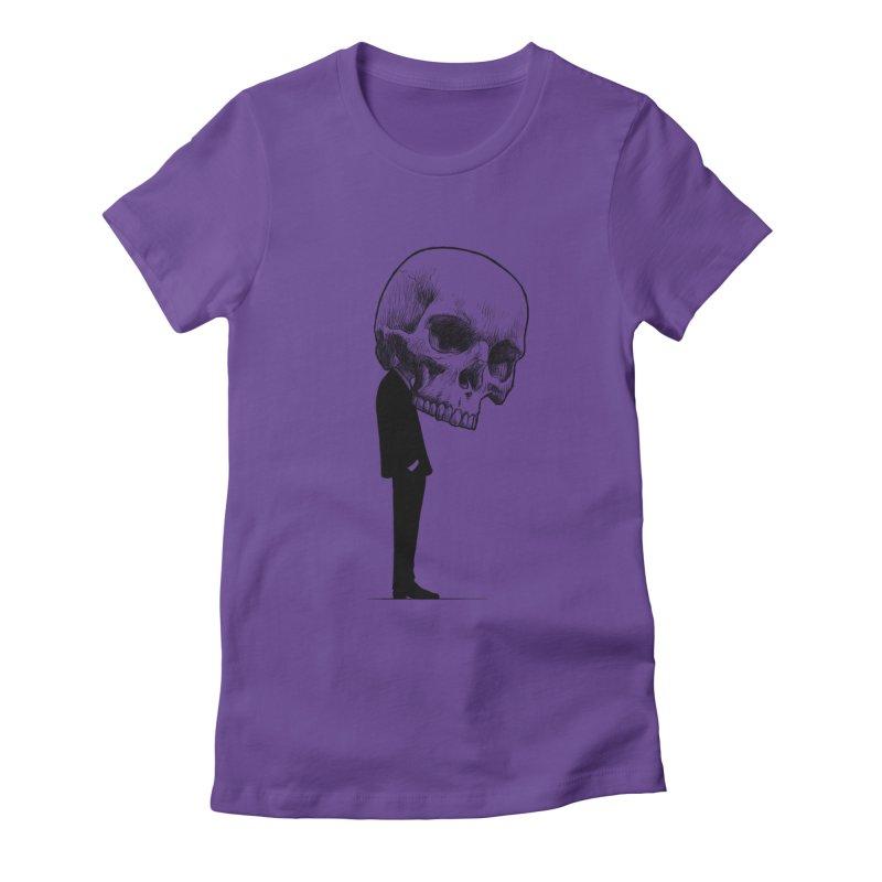 crazyskull No.9 Women's Fitted T-Shirt by crazy3dman's Artist Shop
