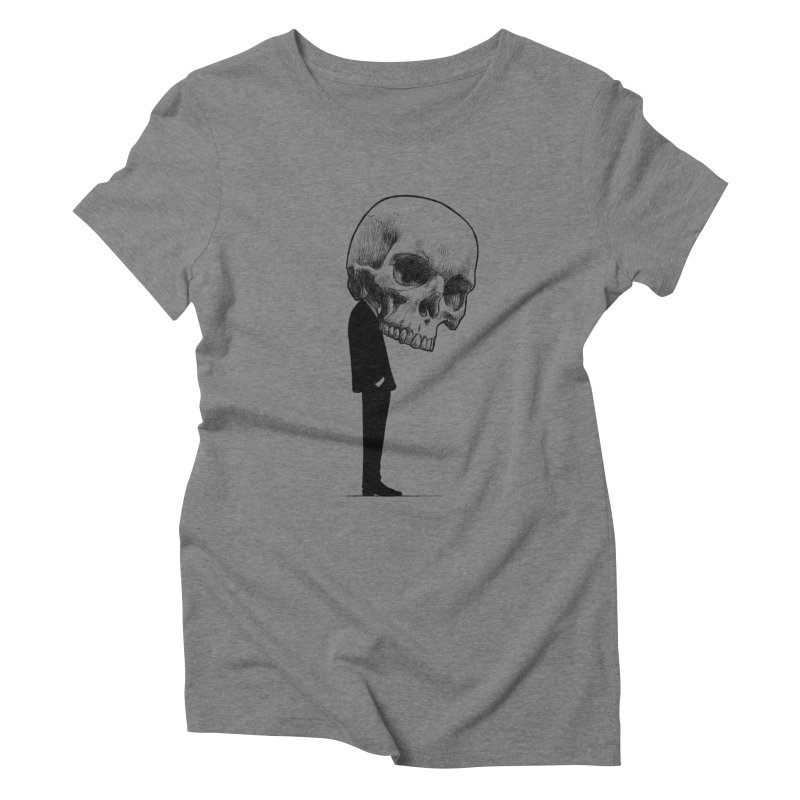 crazyskull No.9 Women's Triblend T-shirt by crazy3dman's Artist Shop