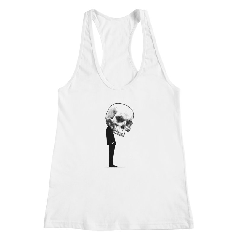crazyskull No.9 Women's Racerback Tank by crazy3dman's Artist Shop