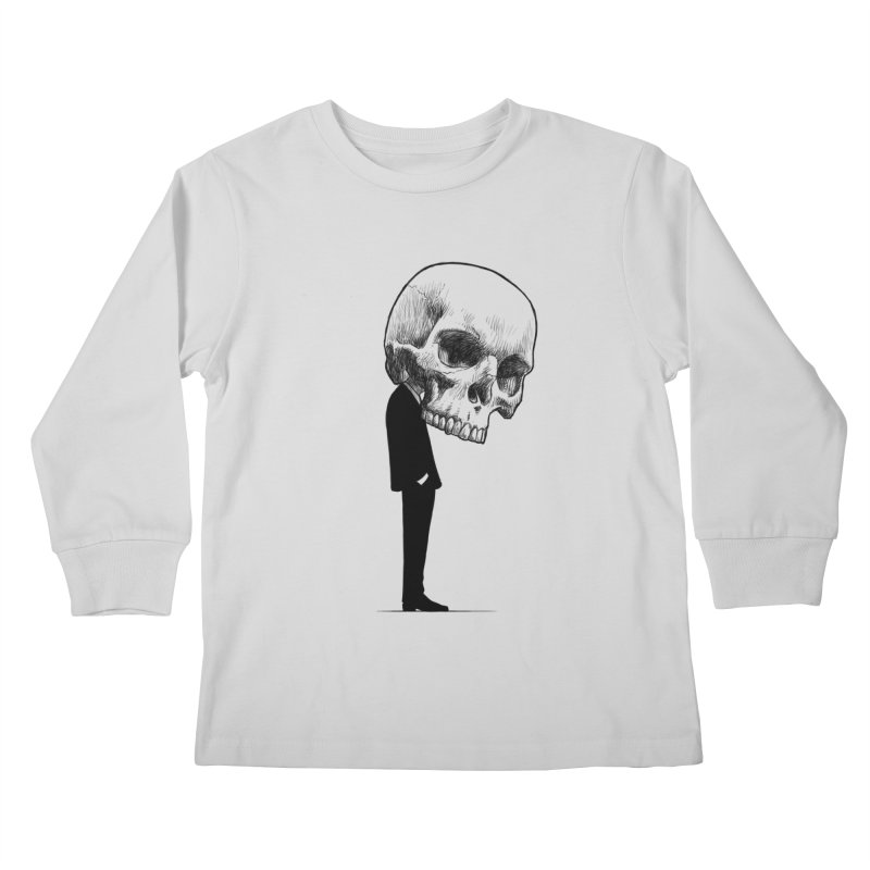 crazyskull No.9 Kids Longsleeve T-Shirt by crazy3dman's Artist Shop