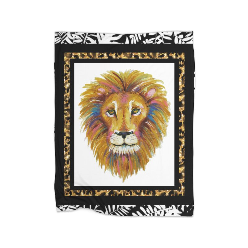 His Majesty Home Fleece Blanket Blanket by Creations of Joy's Artist Shop