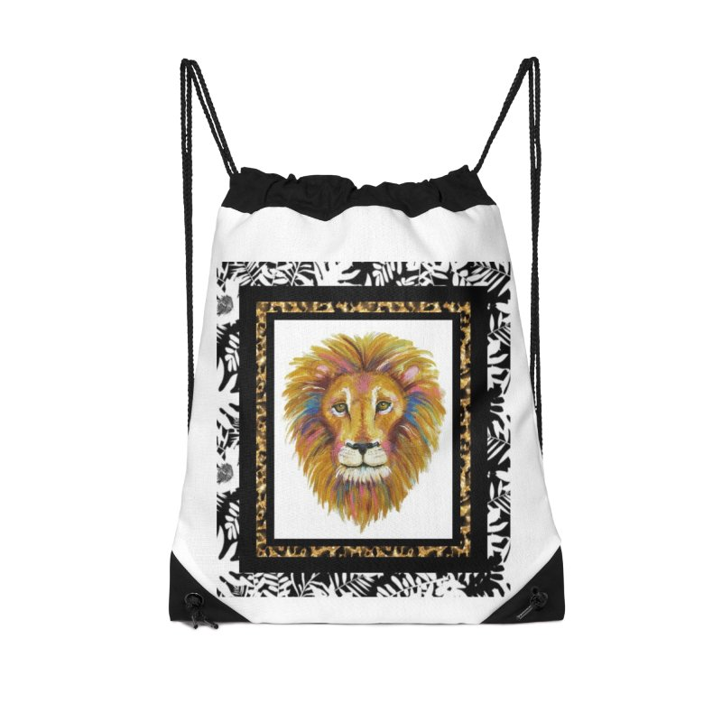 His Majesty Accessories Drawstring Bag Bag by Creations of Joy's Artist Shop