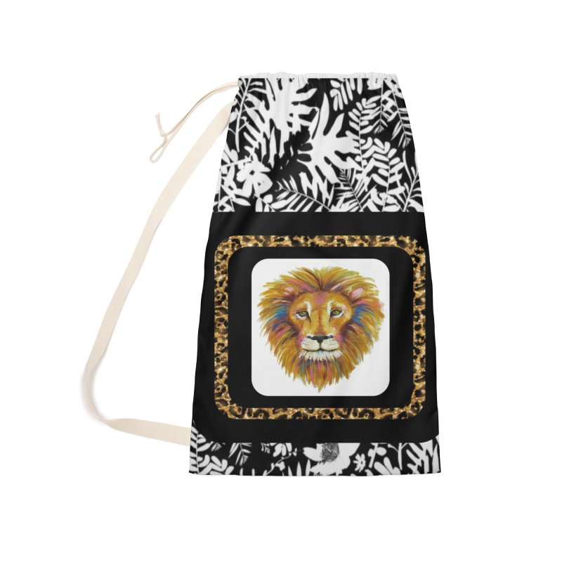 His Majesty Accessories Laundry Bag Bag by Creations of Joy's Artist Shop