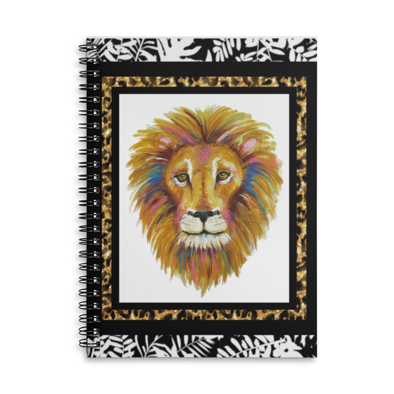 His Majesty Accessories Lined Spiral Notebook by Creations of Joy's Artist Shop