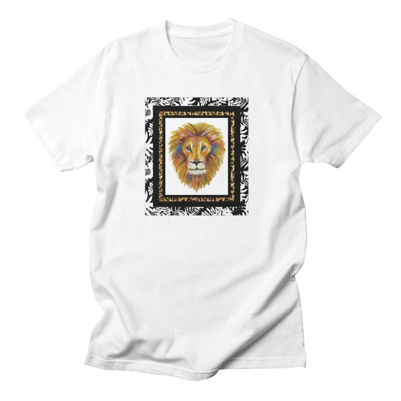 His Majesty in Men's Regular T-Shirt White by Creations of Joy's Artist Shop