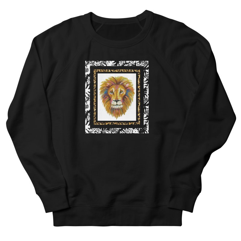 His Majesty in Men's French Terry Sweatshirt Black by Creations of Joy's Artist Shop