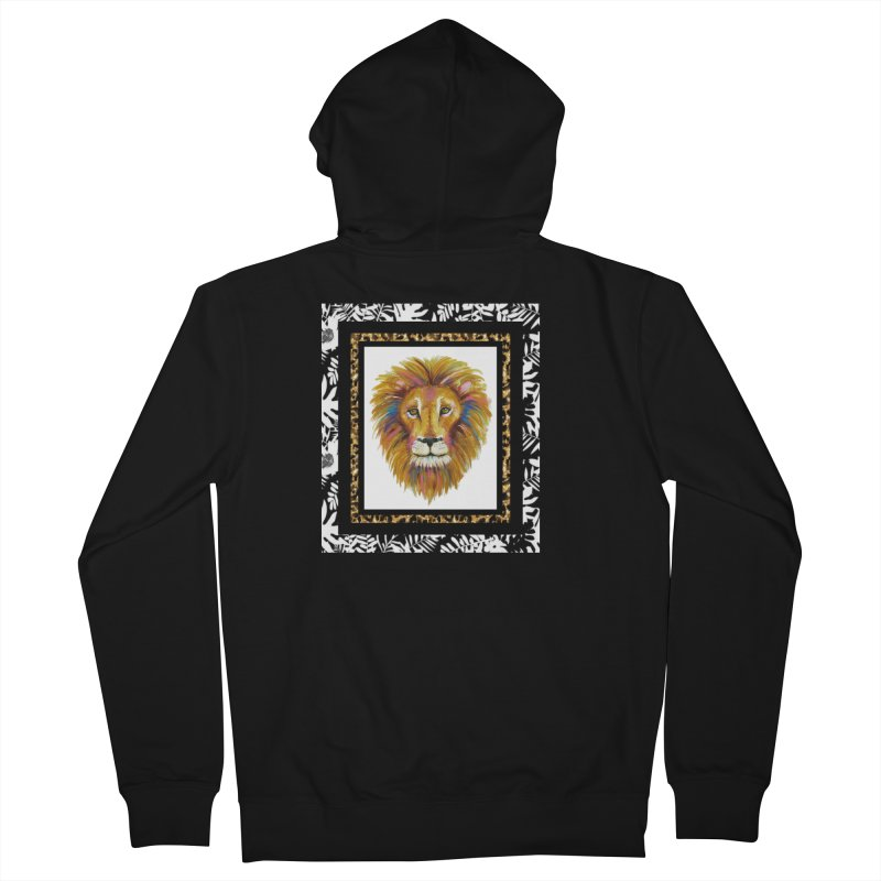 His Majesty Men's Zip-Up Hoody by Creations of Joy's Artist Shop