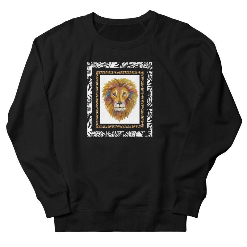 His Majesty Men's French Terry Sweatshirt by Creations of Joy's Artist Shop