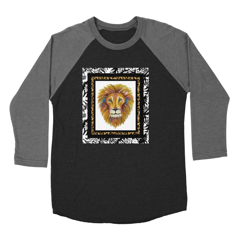 His Majesty Men's Baseball Triblend T-Shirt by Creations of Joy's Artist Shop