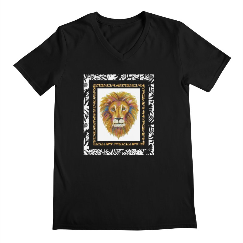 His Majesty Men's V-Neck by Creations of Joy's Artist Shop