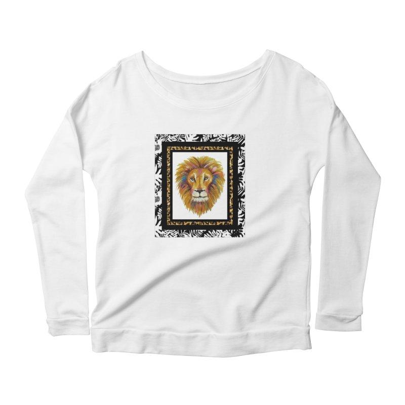 His Majesty in Women's Scoop Neck Longsleeve T-Shirt White by Creations of Joy's Artist Shop