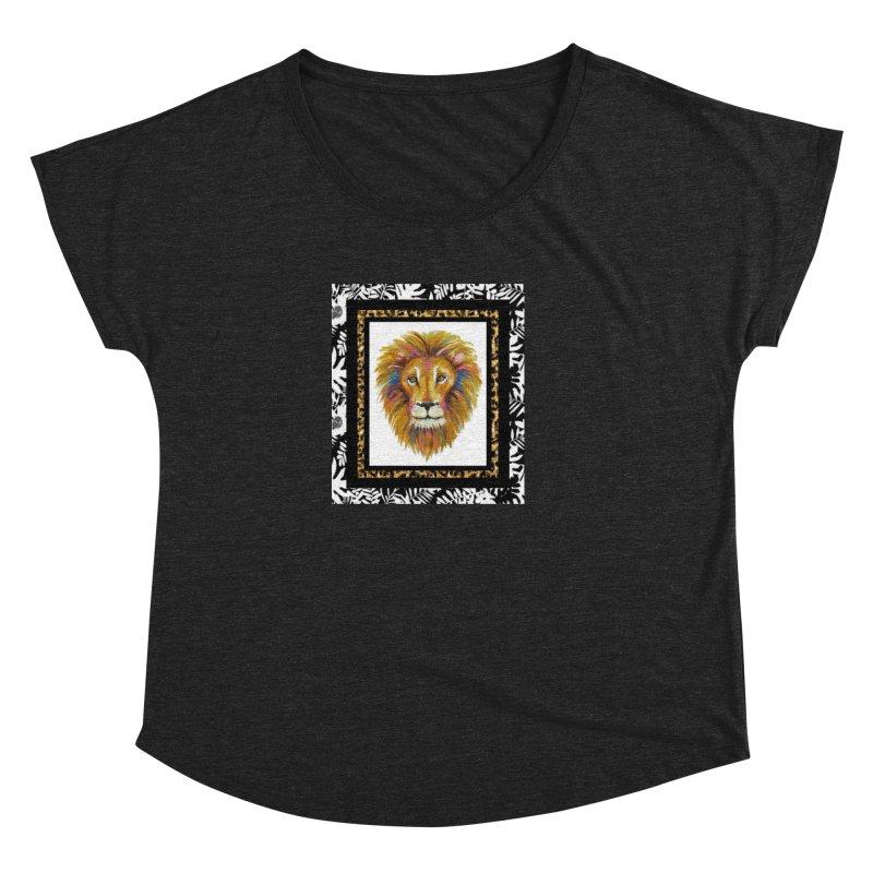 His Majesty in Women's Dolman Scoop Neck Heather Onyx by Creations of Joy's Artist Shop