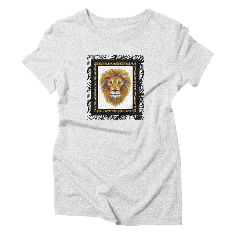 His Majesty in Women's Triblend T-Shirt Heather White by Creations of Joy's Artist Shop